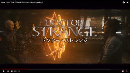 Dr Strange Anime - Title Card