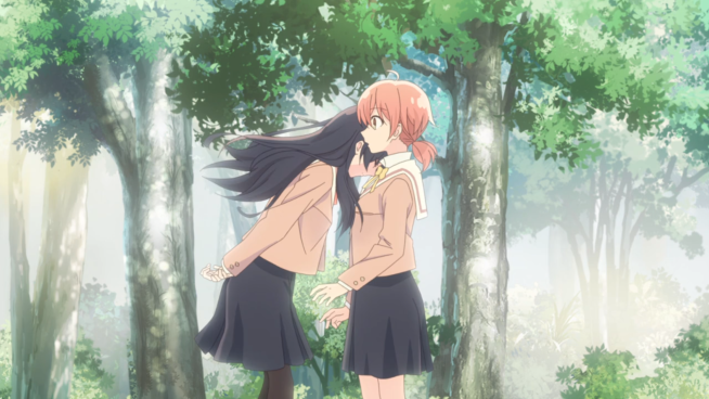 Bloom into You - Touko leans on Yuu