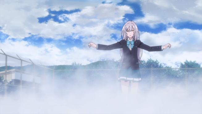 Iroduku - Hitomi walks on water.