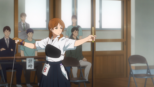 Tsurune - Yuna's shooting form