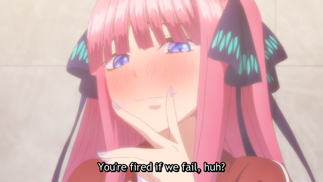Quintessential Quintuplets - the price of failure.