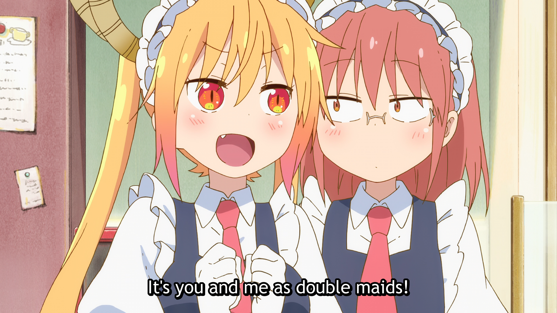 Maid Dragon - Double Maids - Tohru and Kobayashi